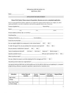 Download Application for Employment - PDF File